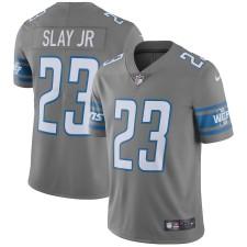 Los hombres de Detroit leones Darius Slay Jr Nike acero vapor intocable color Rush Limitada Jugador Camiseta