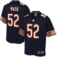 Hombres Chicago osos Khalil Mack NFL Pro Line Navy Jugador Camiseta