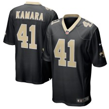 Hombres New Orleans Saints Alvin Kamara Nike negro juego Camiseta