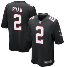Hombres Atlanta Falcons Matt Ryan Nike negro juego alternativo Camiseta