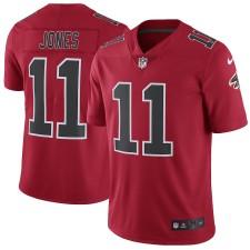 Los hombres de Atlanta Falcon Julio Jones Nike rojo vapor intocable color Rush Limitada jugador Atlanta Falcon Camisetas