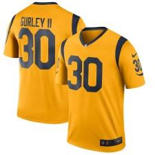Hombres los Angeles Rams Todd Gurley II Nike Oro color Rush Legend Jugador Camiseta