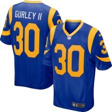 Hombres los Angeles Rams Todd Gurley II Nike Royal Jugador Juego Camiseta