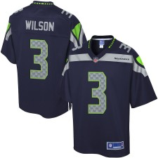 Pro Line Hombres Seattle Seahawks Russell Wilson Equipo Color Camiseta