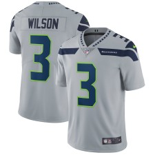 Hombres Seattle Seahawks Russell Wilson Nike Gris Vapor Intocable Limitada Jugador Camiseta