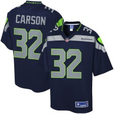 Hombres Seattle Seahawks Chris Carson NFL Pro Line College Navy Equipo Color Jugador Camiseta