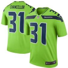 Hombres Seattle Seahawks Kam Chancellor Nike Verde Color Rush Leyenda Camiseta