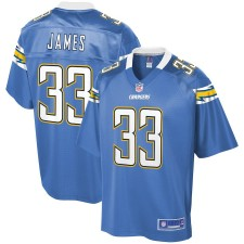 Hombres Los Angeles Chargers Derwin James NFL Pro Line Powder Azul Alternativa Jugador Camiseta