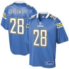 Hombres Los Angeles Chargers Melvin Gordon NFL Pro Line Powder Azul Alternativa Equipo Color Jugador Camiseta