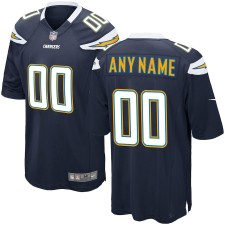 Hombres Los Angeles Chargers Nike Navy Custom Juego Camiseta