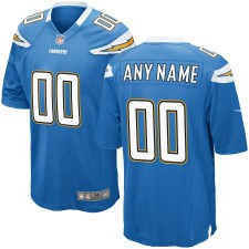 Hombres Los Angeles Chargers Nike Luz Azul Juego Custom Camiseta