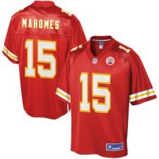 Hombres Kansas City Chiefs Patrick Mahomes NFL Pro línea rojo jugador Camiseta