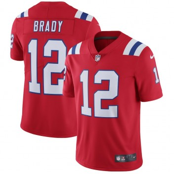 Hombres New England Patriots Tom Brady Nike Rojo Vapor Intocable Limitada Jugador Camiseta
