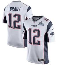 Hombres New England Patriots Tom Brady Nike Blanco Super Bowl LIII Límite Juego Camiseta