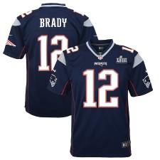Juventud New England Patriots Tom Brady Nike Navy Super Bowl LIII Límite  Juego Camiseta 9058e393b1f9a