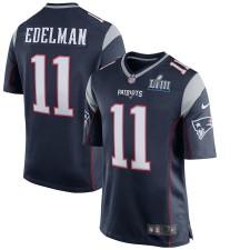 Hombres New England Patriots Julian Edelman Nike Marina Super Bowl LIII Límite Juego Camiseta