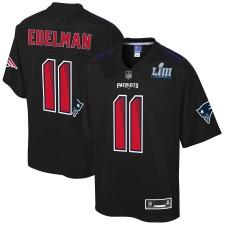 Hombres New England Patriots Julian Edelman NFL Super Bowl LIII Campeones Moda Jugador Camiseta