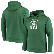 Hombres New York Jets Under Armour Verde Combinar Auténtico Lockup Pullover Hoodie