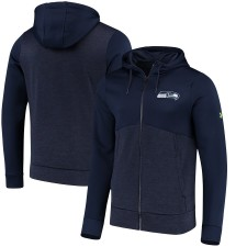 Hombres Seattle Seahawks Under Armour Universidad Marina Combinar Auténtico Twist Colorblock Full-Zip Hoodie