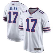 Hombres Buffalo Bills Josh Allen Nike blanco juego Camiseta