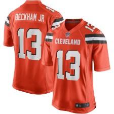 Hombres Cleveland Browns Odell Beckham Jr Nike Naranja Juego Camiseta