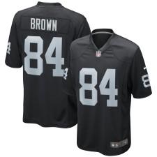 Hombres Oakland Raiders Antonio Brown Nike negro juego Camiseta