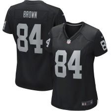 4ff75201ee6a5 Mujeres Oakland Raiders. camisetas-oakland-raiders. Disponible. Mujeres Oakland  Raiders Antonio Brown Nike Negro Juego ...