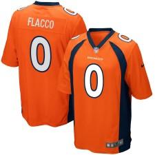 Los hombres Denver Broncos Joe Flacco Nike Naranja Juego Camiseta