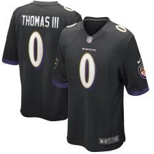 Hombres Baltimore Ravens Earl Thomas Nike Negro Juego Camiseta