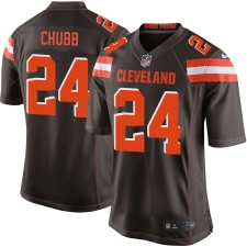 Hombres Cleveland Browns Nick Chubb Nike Brown juego Camiseta