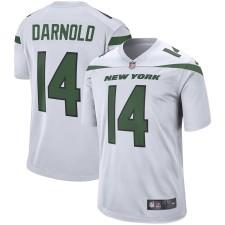 Los hombres New York jets Sam Darnold Nike Blanco Jugador juego Camiseta