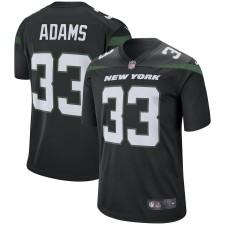 Los hombres New York jets Jamal Adams Nike jugador negro juego camiseta