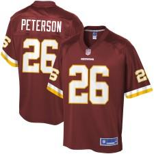 Hombres Washington Redskins Adrian Peterson NFL Pro línea Borgoña jugador Camiseta