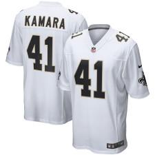 Los hombres de New Orleans Saints Alvin Kamara Nike Blanco Event juego Camiseta
