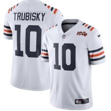 Hombres Chicago Bears Mitchell Trubisky Nike Blanco 2019 100a Temporada Alternativo Clásico Limitada Camiseta