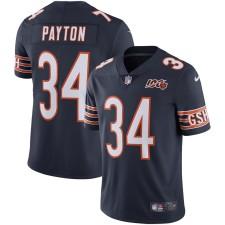Hombres Chicago Bears Walter Payton Nike Navy 100a temporada retirado limitado Camiseta