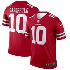 Hombres San Francisco 49ers Jimmy Garoppolo Nike Scarlet Leyenda Camiseta