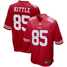 Hombres San Francisco 49ers George Kittle Nike Scarlet Juego Camiseta