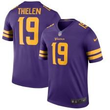Hombres Minnesota Vikings Adam Thielen Nike Púrpura Color Apuro Leyenda Jugador Camiseta