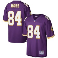 Hombres Minnesota Vikings Randy Moss Mitchell & Ness Púrpura 1998 Jugador Retirado Réplica Camiseta