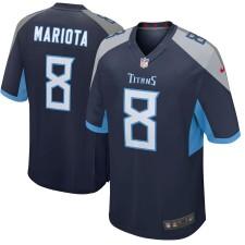 Hombres Tennessee Titans Marcus Mariota Nike Marina Nuevo 2018 Juego Camiseta
