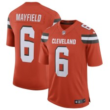 Hombres Cleveland Browns Baker Mayfield Nike Naranja Limitada Camiseta