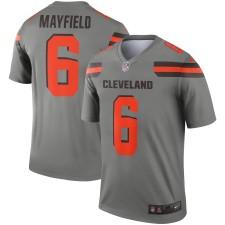 Hombres Cleveland Browns Baker Mayfield Nike Gris Invertir Leyenda Camiseta