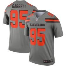 Hombres Cleveland Browns Myles Garrett Nike Gris Inverted Leyenda Camiseta