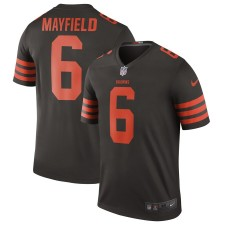 Hombres Cleveland Browns Nike Baker Mayfield Brown Color Rush Leyenda Camiseta
