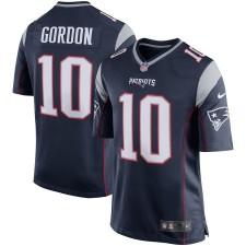 Hombres New England Patriots Josh Gordon Nike Marina Jugador Juego Camisetas