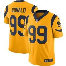 Hombres Los Angeles Rams Aaron Donald Nike Oro Color apuro Vapor Limitada Camisetas