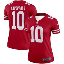 Mujeres San Francisco 49ers Jimmy Garoppolo Nike Scarlet Legend Camisetas