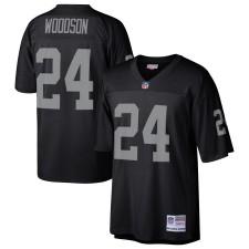 Charles Woodson Oakland Raiders Mitchell & Ness Jugador Retirado Réplica De Legado Camisetas - Negro