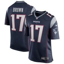 Hombres New England Patriots Antonio Brown Nike Navy Juego Camisetas